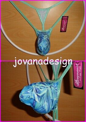 jovanadesign 3D String(1) Contour Pouch AQUA BLUE WRINKLED GIFT PAPER Prin XS-XL