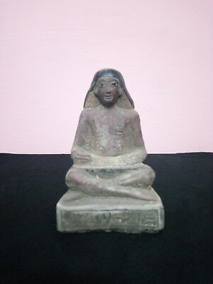 RARE ANTIQUE ANCIENT EGYPTIAN Statue Scribe Scribes Scriber 2450 Bc