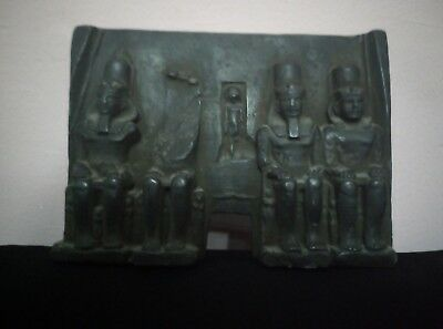 STELA ANCIENT EGYPTIAN ANTIQUE stone Abu Simbel Temple black Symbols Bc