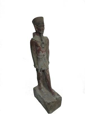 RARE ANTIQUE ANCIENT EGYPTIAN STATUE ANTIQUITIES Pharaohs Amun 1080-943 Bc