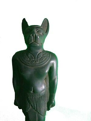 RARE ANCIENT ANTIQUE EGYPTIAN Statue Egypt Bastet Cat Goddess Figurine Bc