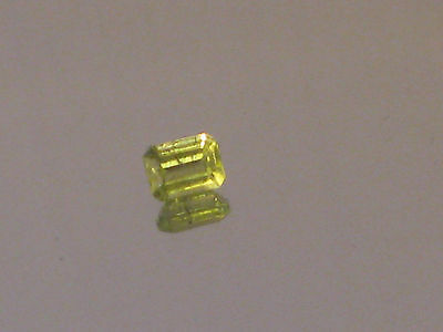 Peridot, Australian green Peridot, 3.5 x 4.7 mm Emerald cut ,0.4 ct