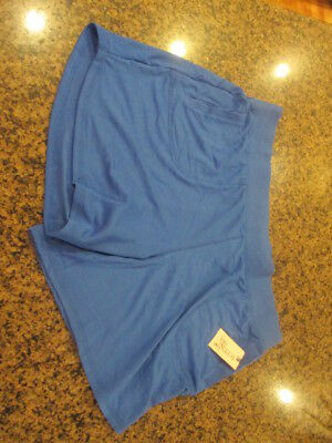 Terra & Sky Women's Plus Knit Short shorts  Blue 1X 16 18 W NWT Generous fit