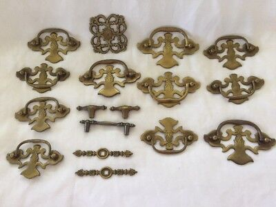 Vintage Cabinet Hardware Drawer Brass Pulls Pineapple 2 sizes (612)