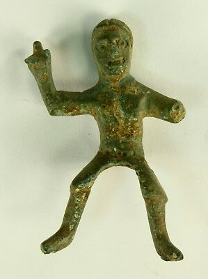 ! AUTHENTIC 800 B.C. CELTIC Bronze Horseman Horse Rider Figure - 57mm