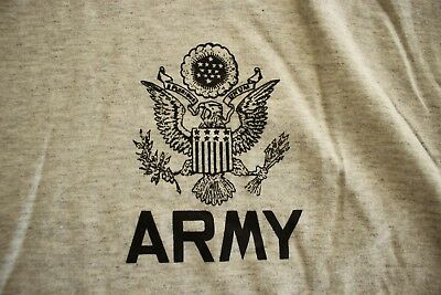 Us Army Gi Eagle All Ranks Specialties Athletic Pt Ground Air Ss Gray T-Shirt Xl