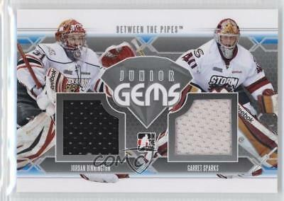 2012 In the Game Between Pipes JG-02 Jordan Binnington Garret Sparks Hockey Card