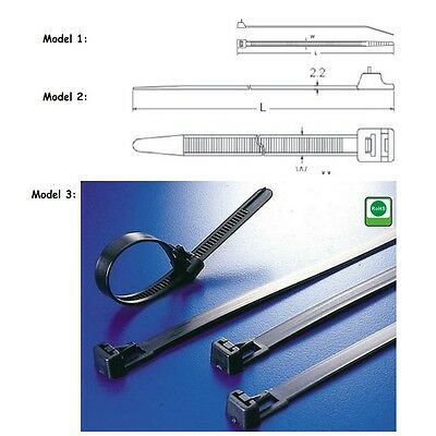 Cable Tie again Solvable Natural or Black in Many Sizes