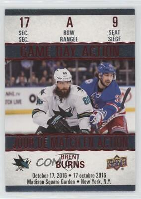 2017 Upper Deck Tim Hortons Collector's Series Game Day Action GDA-9 Brent Burns