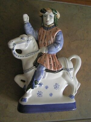 "A Rye Pottery ""canterbury Tales"" Figurine: ""the Guildsman"": 8.5"" Tall: Vgc"