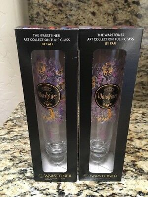Warsteiner Beer  Fafi Art Collections Tulip Glasses (2)