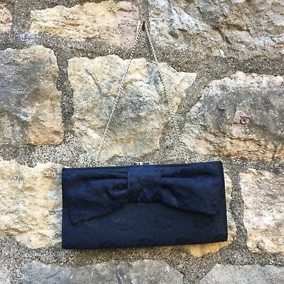 New look - Blue Lacy Clutch Bag - Great condition
