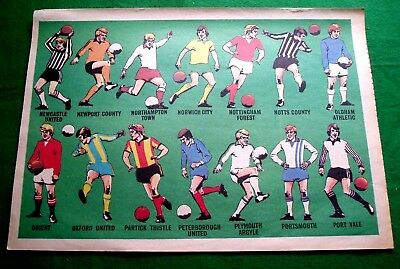 TIGER 1976 FOOTBALL CLUB COLOURS  NEWCASTLE TO PORT VALE 14 x COLOUR CLUB STRIPS