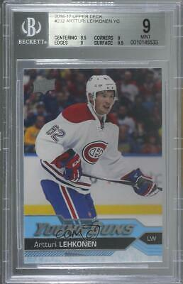 2016 Upper Deck 232 Young Guns Artturi Lehkonen BGS 9 MINT Montreal Canadiens RC