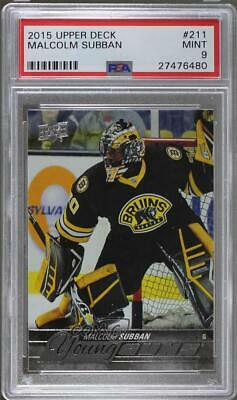 2015-16 Upper Deck Young Guns Malcolm Subban #211 PSA 9 Rookie