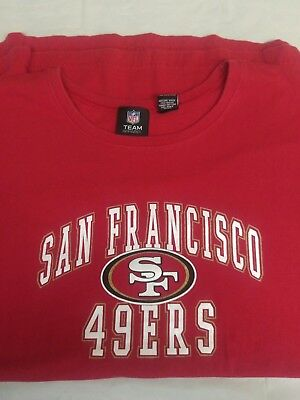 VINTAGE 80S SAN FRANCISCO 49ERS Rawlings t-shirt Sz Adult XL red ... a8fdf694e