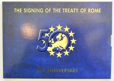 Ireland 2007 Euro Set 9 Mint Coins 50th Anniversary Signing of Treaty of Rome
