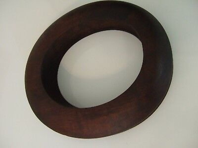 ANTIQUE MILLINERY WOODEN HAT RING BRIM FORM Marked DIAMOND 2 1/2  6 3/4  TY