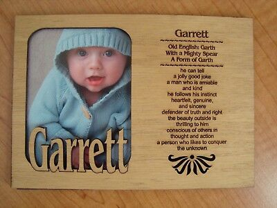 Personalized Wood BABY NAME Engraved 5x7 PICTURE Frame MATTE Shower Gift  NEW