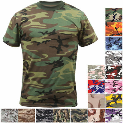 Rothco Camo T-Shirt Military Short Sleeve Tee, Army Camouflage Tactical Tshirt