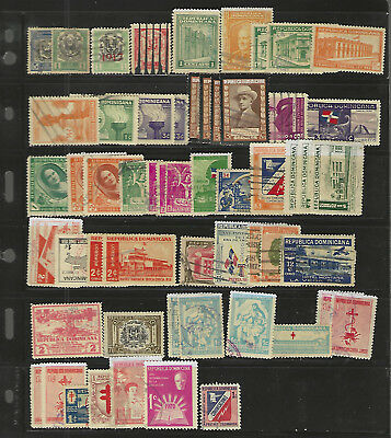 DOMINICAN REPUBLIC...Regular & BOB Issues...Lot of 56..41 Different... Used