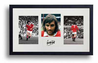George Best Framed Autographed Manchester United Tribute