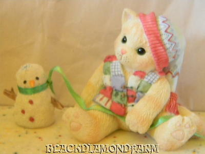 Calico Kittens One Look From U Melts My Heart Figurine 1998* So Cute *