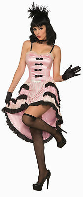 40e07e3ed Can Can Dancer Pink Black Womens Adult Costume Standard Size NEW Western