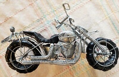 Handcrafted Wire Sculpture Motorbike - Great Gift For Any Motorcycle Enthusiast!