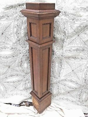 Antique Architectural Salvage Oak Newel Post Column Stairway Arts Crafts ? #1