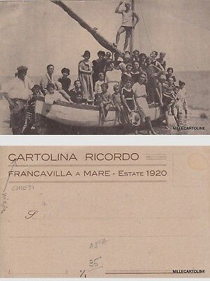 # Francavilla A Mare: Estate 1920 - Cartolina Ricordo