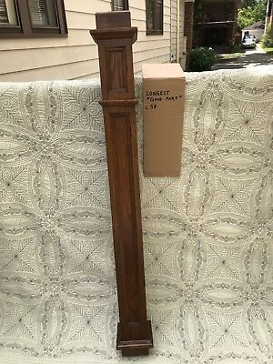 Antique Architectural Salvage Oak Newel Post Column Stairway Arts Crafts ? #2