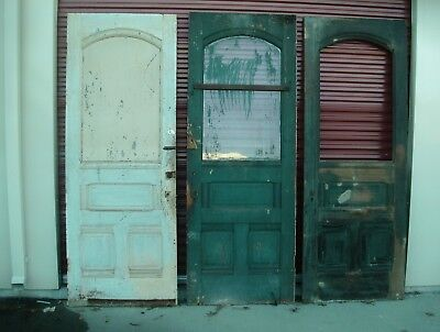 Antique Eastlake half lite doors Int/Ext solid wood doors  #3/3A set #4/4A