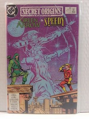 Secret Origins #38 (2nd Series) 1989 DC -GRADED: NM- *Green Arrow & Speedy
