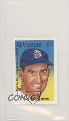 1992 St Vincent Hall of Fame Heroes Stamps Ted Williams Boston Red Sox Card