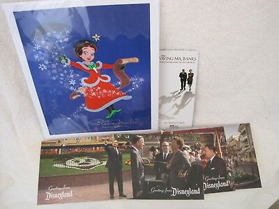Limited Edition Disney Mary Poppins SIGNED Art Print +BONUS Postcards+ Bookmark