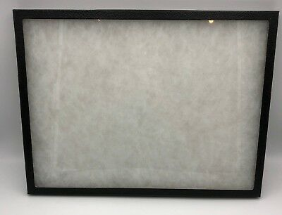 "Button Pin Display Case Trading Card Show Case 12"" x 16"" Shadow Box"