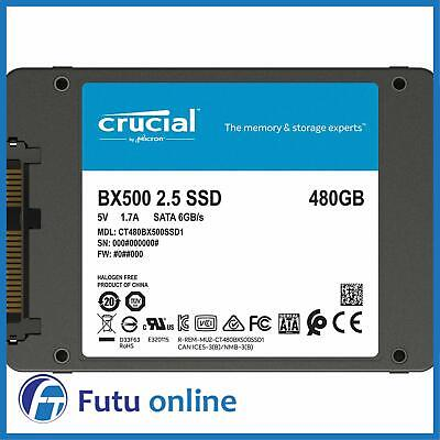 "Crucial 480GB BX500 Series SSD 2.5"" Internal Solid State Drive 540MBs + Acronis"
