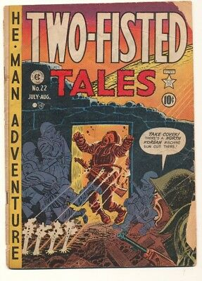 Two-Fisted Tales (1950 series) #22 in Good + condition. E.C. comics