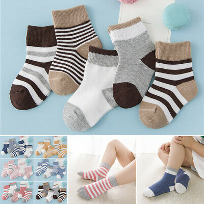 5pairs Baby Socks Thick Multicolor Seamless Pure Cotton Toddler Socks Kid Socks