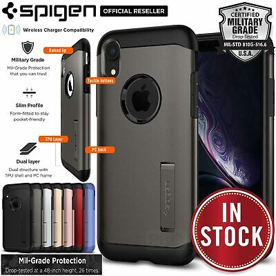 finest selection 5b284 f8c47 IPHONE XR CASE, Genuine SPIGEN Slim Armor Heavy Duty Soft Cover for Apple