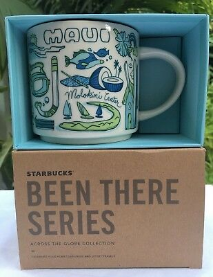 """Starbucks 2018 Maui """"Been There Series""""14 oz Ceramic Mug/Cup New in Box"""