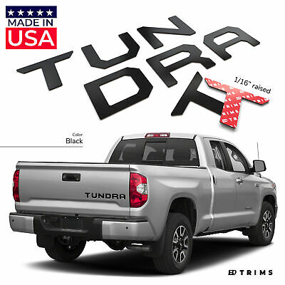BDTrims | Black Tailgate Letters for Toyota Tundra 2014-2019 ABS Plastic Inserts