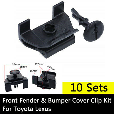 10 Sets Front Fender & Bumper Cover Clip Kit For Toyota Camry Corolla Lexus