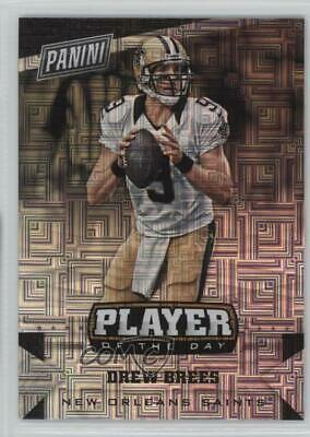 super popular d9dae 020d4 2016 Panini NFL Player of the Day Infinite  15 Drew Brees New Orleans Saints