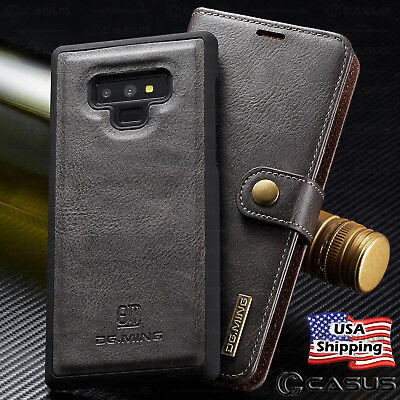 For Samsung Galaxy Note 9/8 Leather Removable Wallet Magnetic Flip Case Cover