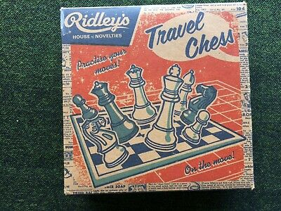 Ridleys Travel Chess in Wooden Box NEW