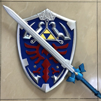 The Legend of Zelda Skyward Sword and Shield Set Link Safety PU Material Gift