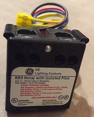 Ge Lighting Controls Rr9 Relay With Isolated Pilot Rr9p Plug In For Lightsweep