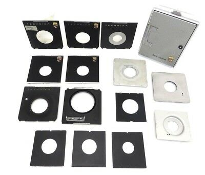 15x Linhof Technika PObjektiv platine lens plate 9,5 x 10 and matt screen ig021